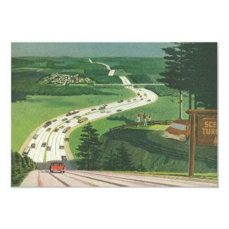 Cartão Mudança das estradas do vintage de endereço