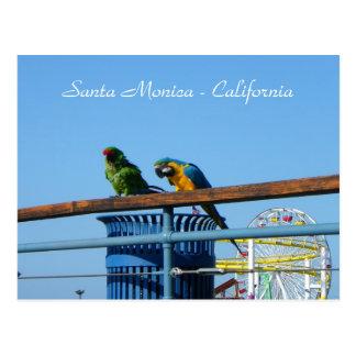 Cartão muito legal de Santa Monica!