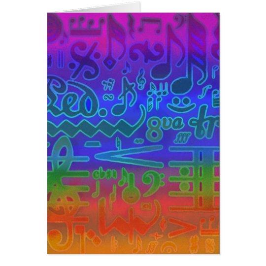 Cartão Multi níveis dos símbolos musicais
