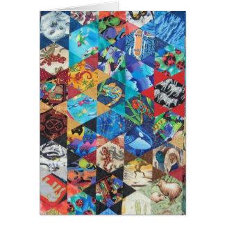 Cartão Multi teste padrão colorido das artes