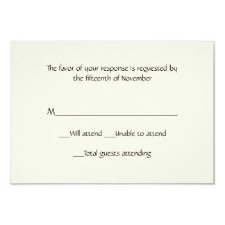 Cartão multifacetado da resposta do marfim convite 8.89 x 12.7cm