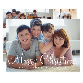 Cartão múltiplo das fotos do Feliz Natal