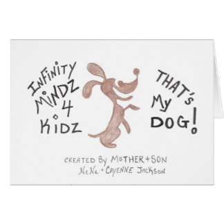 """Cartão MUNDO do DOGGY 4KIDZ de Mindz da infinidade de """""""