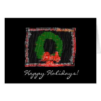 Cartão Música da grinalda do Natal, boas festas!