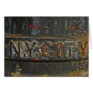 Cartão N.Y. Nota da cidade