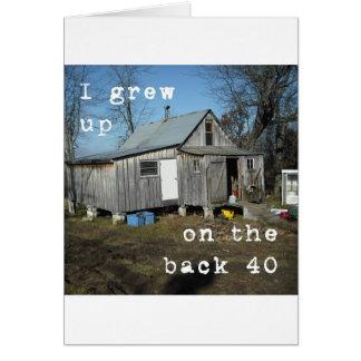 Cartão Na engrenagem 40 traseira