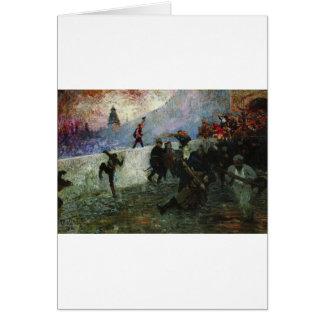 Cartão Na Moscovo besieged em 1812 por Ilya Repin