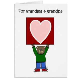 Cartão namorados das avós
