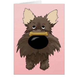 Cartão Namorados de Terrier de monte de pedras