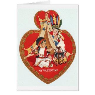 Cartão Namorados do nativo americano