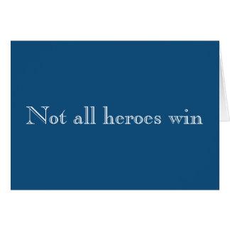 Cartão Não toda a empatia da vitória dos heróis