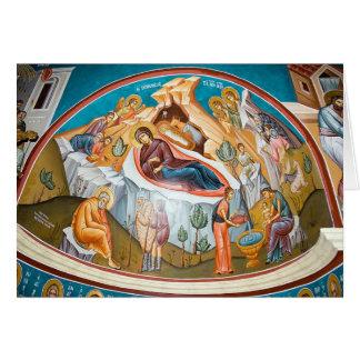 Cartão Nascimento do cristo - pintura mural