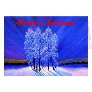 Cartão Natal da aurora boreal