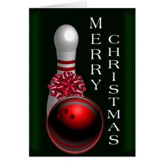 Cartão Natal da boliche
