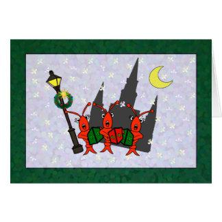 Cartão Natal da catedral dos lagostins/lagosta de