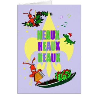 Cartão Natal da flor de lis dos lagostins de Cajun