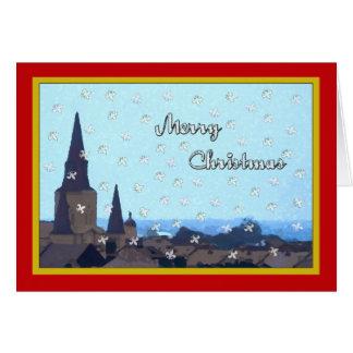 Cartão Natal de Acene da parte superior do telhado do