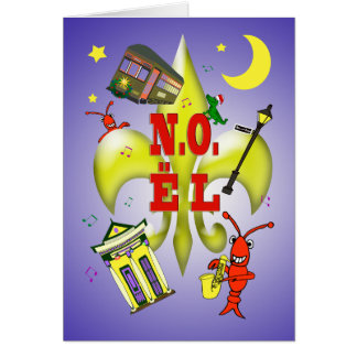 Cartão Natal de Nova Orleães N.O.ël Noël