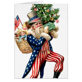 Cartão Natal de Papai Noel do tio Sam