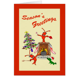 Cartão Natal do Gumbo dos lagostins de Cajun