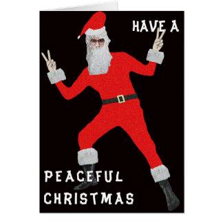 Cartão Natal do hippy