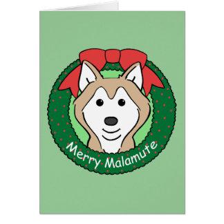 Cartão Natal do Malamute do Alasca