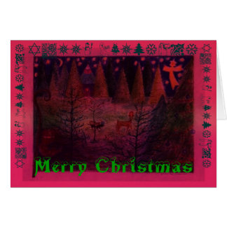 Cartão Natal dos cachorrinhos.