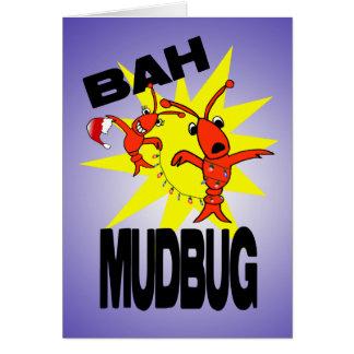 Cartão Natal dos lagostins da farsa de Bah Mudbug