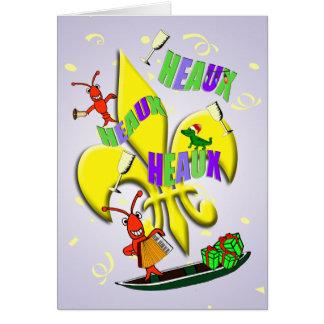 Cartão Natal dos lagostins de Cajun