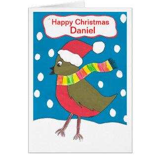 Cartão Natal feliz Daniel