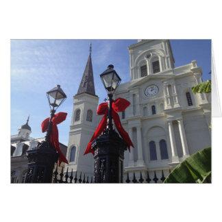Cartão Natal na catedral de St Louis, Nova Orleães