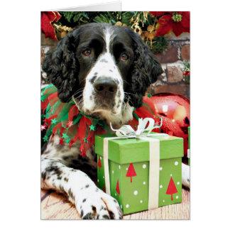 Cartão Natal - Spaniel de Springer inglês - discussão