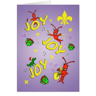 Cartão Natal temático da alegria de Cajun