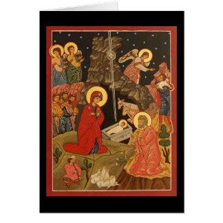 Cartão Natividade do cristo/vazio