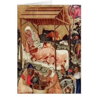 Cartão Natividade = Meister von Hohenfurth 1430.