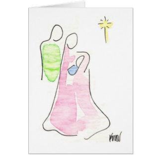 Cartão Natividade, tinta e wc em onionskin
