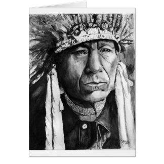 Cartão Nativo americano