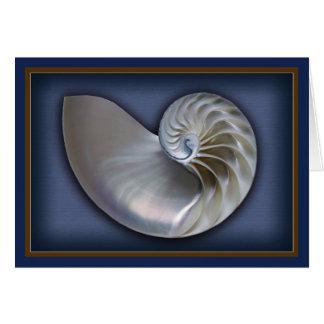 Cartão Nautilus Shell 2 horizontais