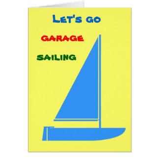 Cartão Navigação da garagem