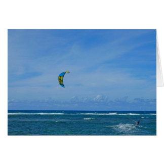 Cartão Navigação do surf