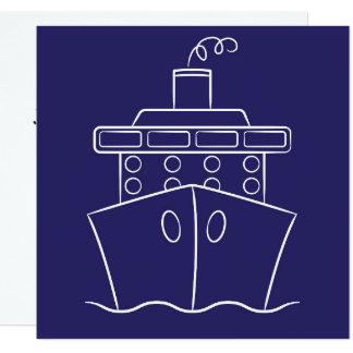 Cartão Navio de cruzeiros