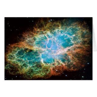 Cartão Nebulosa de M1-Crab uma ideia do presente da