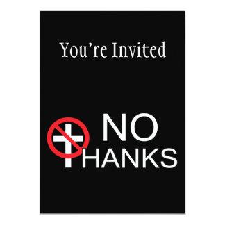 Cartão Nenhuns obrigados à religião