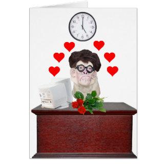 Cartão Nerd engraçado do cachorrinho