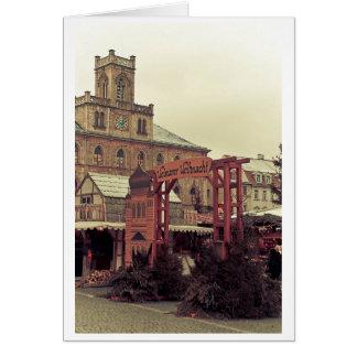 Cartão No mercado do Natal