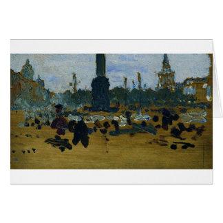 Cartão No quadrado do palácio em St Petersburg por Ilya