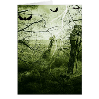 Cartão Noite do susto do Dia das Bruxas