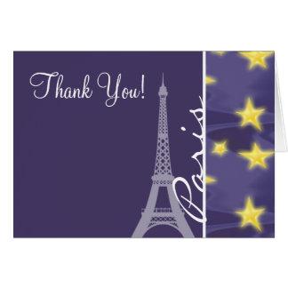 Cartão Noite estrelado de Paris; Torre Eiffel