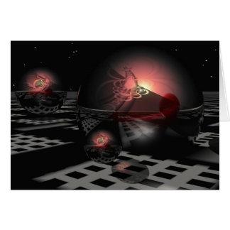 Cartão Noite mágica do inverno