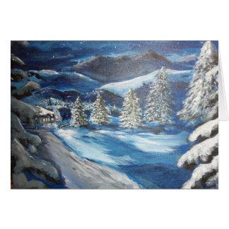 Cartão Noite nevado